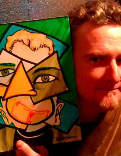 Jim Minion Cubist Portrait