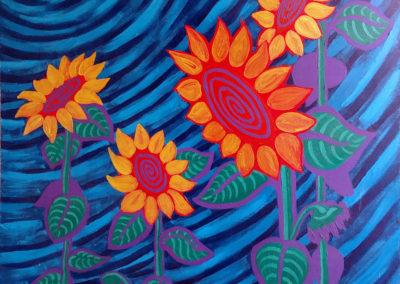 Spiral Vortex Sunflowers