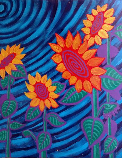 four-sunflowers