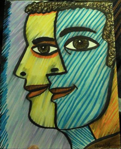 Bus Driver Cubist Portrait