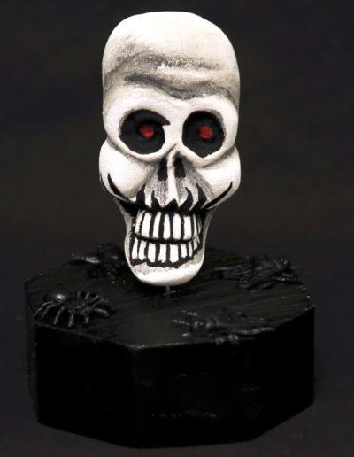 web-white-skull